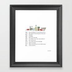 Pizza Dough Framed Art Print
