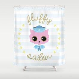 Fluffy sailor Shower Curtain
