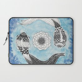 Ying and Yang Coi With Lotus Laptop Sleeve