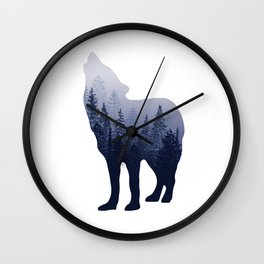 Wolf Forest Wall Clock