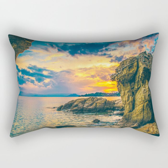 Secret Paradise Rectangular Pillow