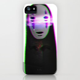 Glitched No Face iPhone Case