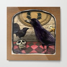 The Deserted Toyshop: A Murder of Crows Metal Print
