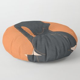 Abstract Nude II Floor Pillow