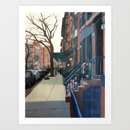 Woman on the Stoop, West 21st Street Art Print