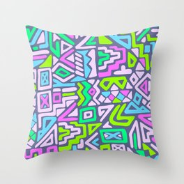 labyrinth simplified.  Throw Pillow