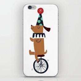 circus dog iPhone Skin