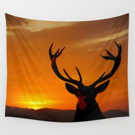 Highland Stag Wall Tapestry