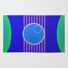 Space Voyage Blue Dot Special: Admit One Rug
