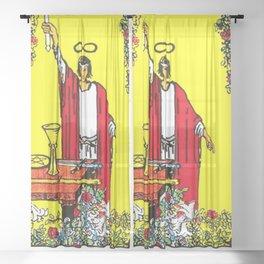 The Magician Tarot Card Sheer Curtain
