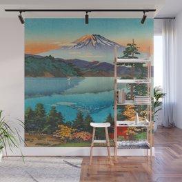 Tsuchiya Koitsu Vintage Japanese Woodblock Print Fall Autumn Mount Fuji Wall Mural