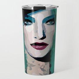 French Girl by Lika Ramati Travel Mug