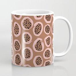 Raw brush minimal fruit garden abstract circle pattern Coffee Mug