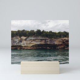 Pictured Rocks I Mini Art Print