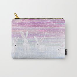 bunnies frolic in the snow Carry-All Pouch