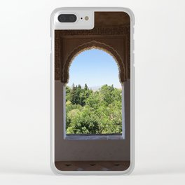The ancient Alhambra Palace windows Clear iPhone Case