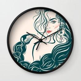Lady Danger Wall Clock