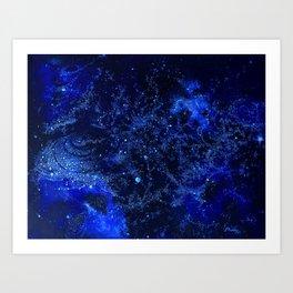 Celestial Blues Art Print