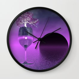 cups and glasses -3- Wall Clock