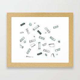 Gum Pattern Framed Art Print