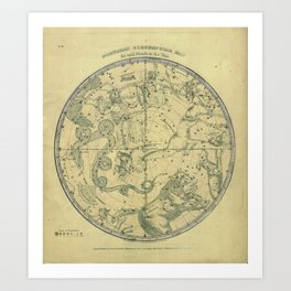 Atlas, Designed to Illustrate the Geography of the Heavens, plate 6 (1850) Art Print