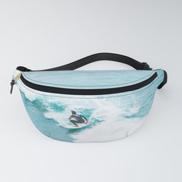 Wave Surfer Turquoise Fanny Pack