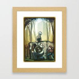 Pixel Art series 12 : In silence Framed Art Print