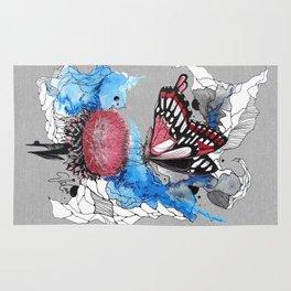 Butterfly I by carographic, Carolyn Mielke Rug