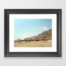 Desert beach Framed Art Print