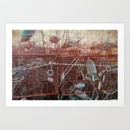 Crab Pots and Buoys Art Print