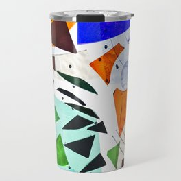 Composition in blue and orange Travel Mug