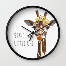 Stand Tall Little One Wall Clock