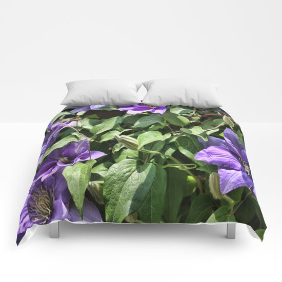Clematis Flowers and Vines Comforters