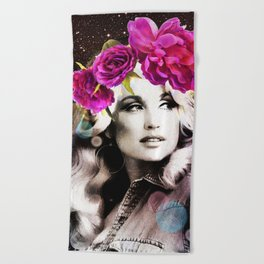 Holy Dolly (dolly parton) Beach Towel