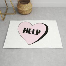Help Candy Heart Rug