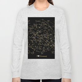 Stars Constellations Love Astronomy Cosmos Galaxy Universe Long Sleeve T-shirt