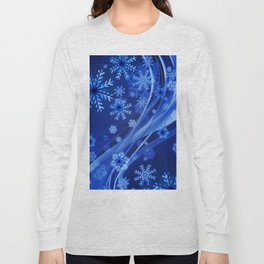 Blue Snowflakes Winter Long Sleeve T-shirt