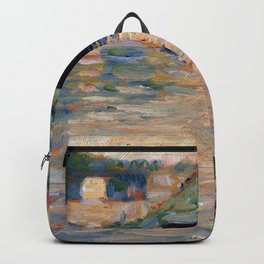 "Georges Seurat ""View of the Seine"" Backpack"