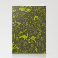 doodle Stationery Cards featuring Doodle by Sarinya  Withaya