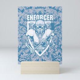 Enforcer Ice Hockey Player Skeleton Mini Art Print