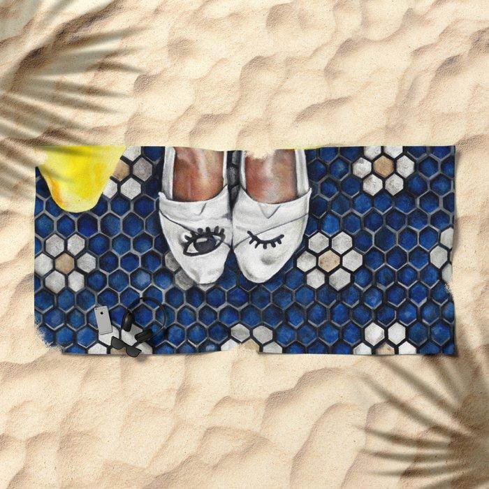 Art Beneath Our Feet Project - Grand Rapids Beach Towel