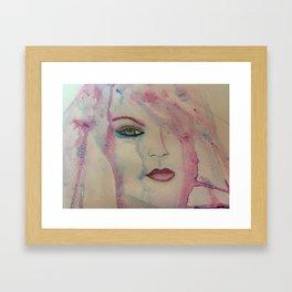 water colour tears Framed Art Print