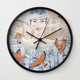 Wisteria tree Wall Clock