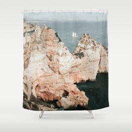 Rocky coastline of Ponta da Piedade, Portugal Shower Curtain