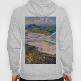 Whitehaven Beach Rainbow Difference Delta River Outlet Blow Hoody