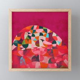 shapes abstract Framed Mini Art Print