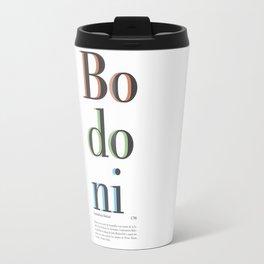 Bodoni Travel Mug