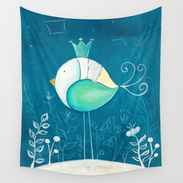 Little prince with a green crown Wall Tapestry