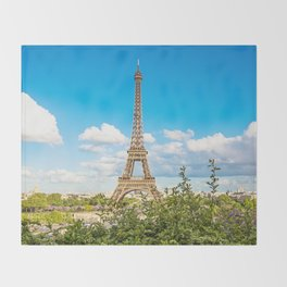 Cloud 9 - Eiffel Tower Throw Blanket