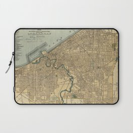 Vintage Map of Cleveland OH (1894) Laptop Sleeve